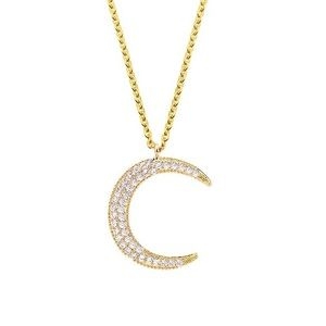 ✨HP! ✨Crystal Encrusted Crescent Moon Necklace✨